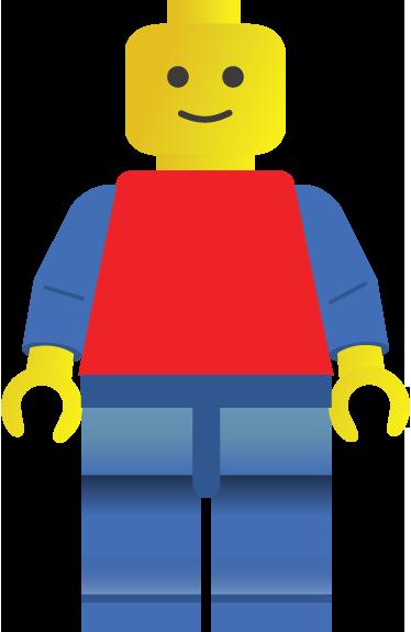 TenVinilo. Adhesivo infantil juguete lego. Espectacular vinilo adhesivo de un personaje de este famoso juego de piezas para niños.
