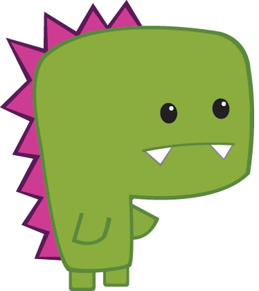TenStickers. Kids Mini Dinosaur Wall Sticker. Kids Wall Stickers - Playful and fun illustration of a mini green dinosaur. Ideal for decorating areas for children.