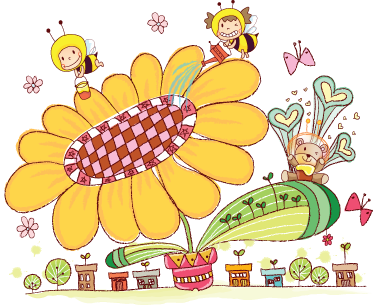 TenStickers. Kids Bee City Wall Mural. Kids Wall Stickers - Colourful and fun illustration of a small bee city. Ideal for decorating areas for children.