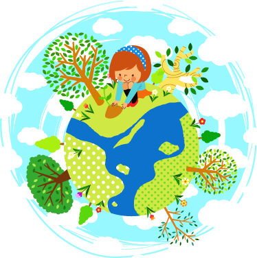 TenStickers. Girl on Top of the World Kids Sticker. Decorate your child's room with this cute vinyl decal of a little girl that is enjoying her time in the garden.