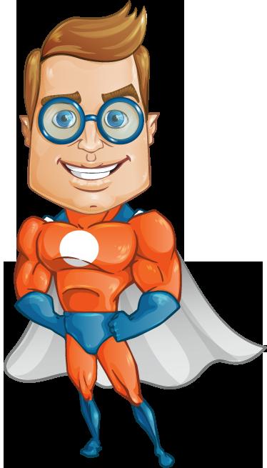 TenStickers. Sticker enfant superlunettes. Adhésif pour enfant représentant un super héros avec des lunettes de vue.Super idée déco pour la chambre d'enfant et ou la personnalisation d'effets personnels.