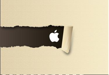 TenStickers. Macbook撕纸贴纸. 创建一种撕破的纸质幻觉,以这种设计揭示苹果徽标。我们的macbook贴纸系列中的精美贴花。