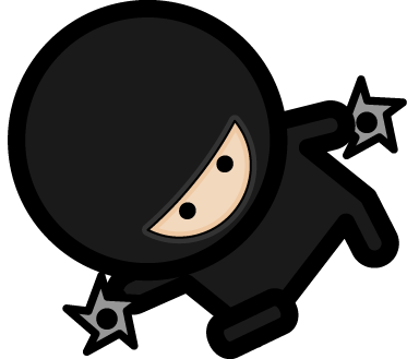 TenStickers. Autocolante para macbook ninja shuriken. O autocolante para macbook com ilustração de um guerreiro ninja armado com um shuriken. Fácil de aplicar.