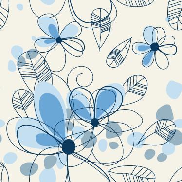 Sticker strook behang bloemen