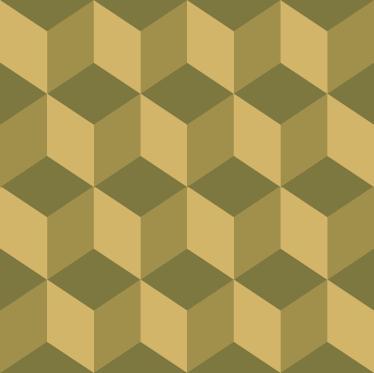 TenVinilo. Pieza vinilo patrón de cubos. Decora las paredes de tu casa con este original y moderno adhesivo geométrico.