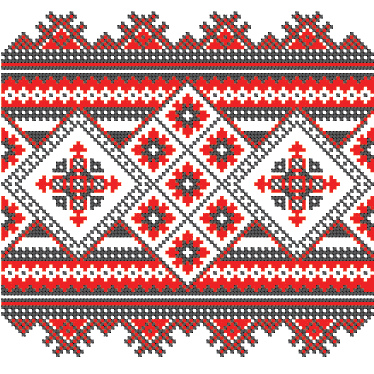 TenStickers. Cross Stitch Pattern Vinyl Sheet Sticker. Vinyl Stickers - Cross stitch pattern design to decorate any space. Suitable for the christmas period and winter session.