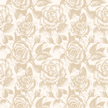 TenStickers. Beige roses textured sticker. Great floral pattern. An elegant way to decorate the walls of your home.