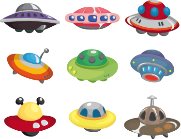 TenStickers. Alien UFOs Kids Wall Stickers. Decorate your child´s bedroom with these easy to apply UFO stickers. From our collection of space wall stickers. Allow this alien wall sticker to take them on an adventure through space!