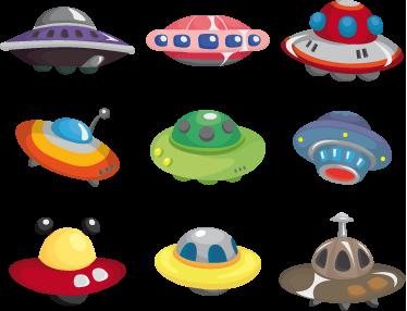 TenVinilo. Sticker infantil colección ovnis. Coloridos adhesivos de diversas naves espaciales venidas del espacio exterior para decorar el cuarto de tus hijos. Pegatinas infantiles que harán volar la imaginación de tus hijos y aumentará su creatividad.