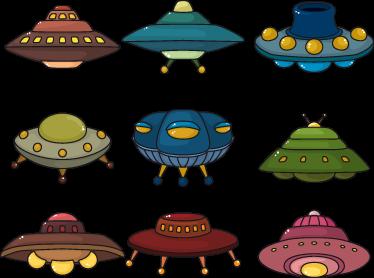 TenVinilo. Sticker infantil set de ovnis. Si en casa esperáis ansiosos una inminente invasión alienígena con esta colección de pegatinas podréis ir abriendo boca.