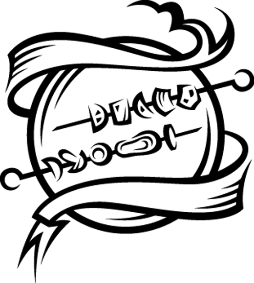 TenVinilo. Vinilo decorativo emblema brochetas. Vinilodecorativo cocina. Decora los armarios, la pared o los electrodomésticos de tu cocina con un adhesivo decorativo divertido y original con unos pinchos de carne preparados para la barbacoa.