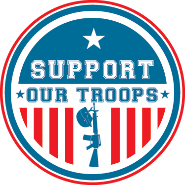 TenStickers. Support Our Troops Sticker. If you are fond of American culture and admire its armed forces, then this sticker is perfect for you and your home décor.