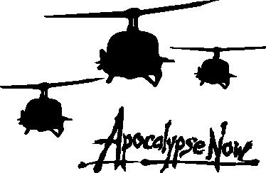 TenVinilo. Vinilo silueta apocalypse now. Característica imagen en adhesivo decorativo de este film bélico dirigido por Francis Ford Coppola y protagonizado por un gran elenco de actores.