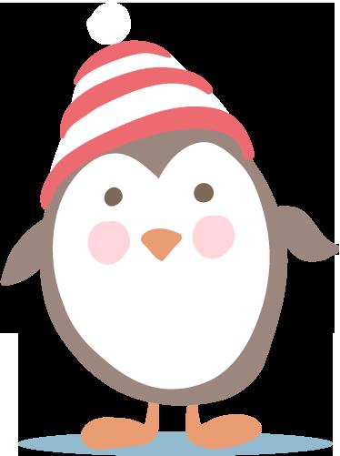 TenVinilo. Vinilo infantil pingüino con gorro. Linda pegatina del típico pájaro ártico con sombrero de lana del frío que hace en su pueblo.