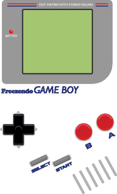 TenStickers. Game Boy Kühlschrank Aufkleber. Ein perfekter und dekorativer Gameboy Sticker für die Dekoration von Ihrer Küche. Der Aufkleber ist ideal für die Verziehrung vom Kühlschrank geeignet
