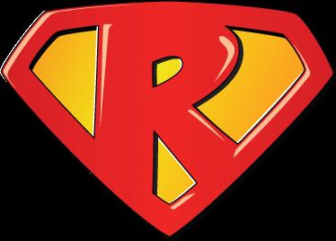 TenStickers. Autocolante decorativo Super-Herói R. Autocolante decorativo inspirado na figura do Super-Homem que o irá transformar no Super-Herói R!