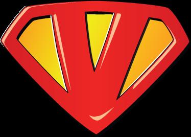 TenVinilo. Vinilo infantil super V. ¿Víctor, Verónica, Vicente...? Si tienes en casa a un pequeño superman decora su habitación con su propio super emblema adhesivo.