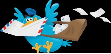 TenStickers. Sticker enfant oiseau messager. Stickers amusant pour enfant représentant un oiseau messager.Super idée déco pour la chambre d'enfant et ou la personnalisation d'effets personnels.