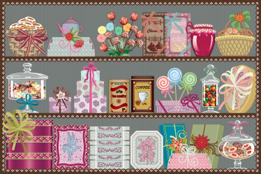 TenStickers. Sweet Shop Wall Sticker. Room Stickers - Got a sweet tooth? Then this candy shop design is for you. Ideal decals to decorate any room.