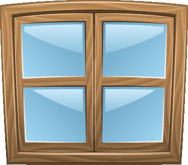 sticker gesloten venster raam tenstickers
