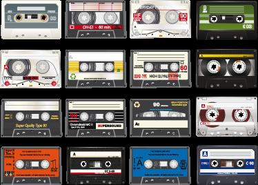 TenVinilo. Sticker coleccion cintas cassette. ¿Echas de menos rebobinar las cintas con un bolígrafo para encontrar tu canción favorita? Pués hazte con este set de adhesivos.