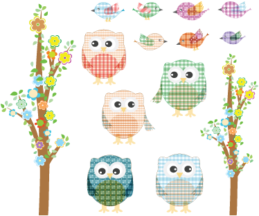Owls sparrows wall stickers tenstickers wall color thecheapjerseys Image collections