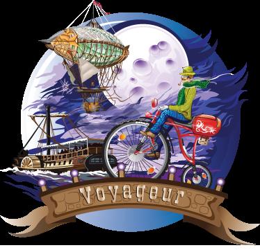 TenVinilo. Pegatina voyageur clásica. Adhesivo inspirado en los libros de aventura de Julio Verne, para todos aquellos viajeros atrevidos.