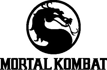 TenVinilo. Adhesivo decorativo mortal kombat. Espectacular vinilo con la silueta del dragón clásica de este videojuego de acción.