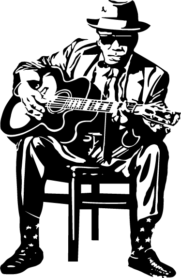 TenVinilo. Vinilo decorativo John Lee Hooker. Espectacular adhesivo de este reconocido bluesman, autor de éxitos como One Bourbon, one scotch, one beer.