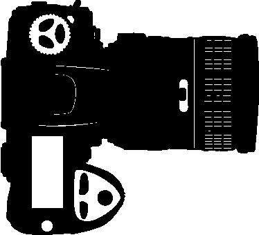 TENSTICKERS. デジカメ大レンズステッカー. 大きなレンズを備えたデジタルカメラを示すウォールステッカー。