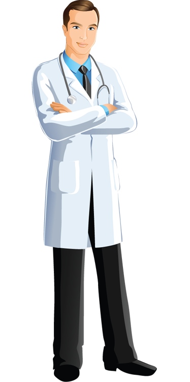 TenStickers. Medisch dokter man sticker. Medische muursticker van een mannelijke dokter in zijn doktersjasje. Deze sticker zal een leuke toevoeging zijn aan een dokterspraktijk of ziekenhuis.