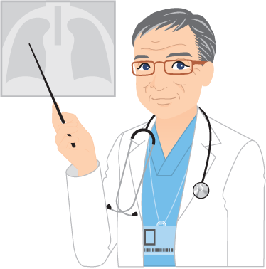 TenStickers. стикер стены доктора рентгеновский. стикеры стены - иллюстрация доктора объясняя рентгеновское сканирование. идеально подходит для предприятий здравоохранения.