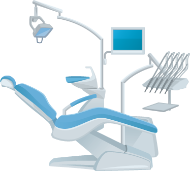 TENSTICKERS. 歯科医の壁のステッカー. ウォールステッカー-歯科医の椅子のイラスト。医療サービスに最適です。さまざまなサイズで利用できます。長持ちするデカール。