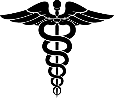 Caduceus Health Symbol Wall Sticker