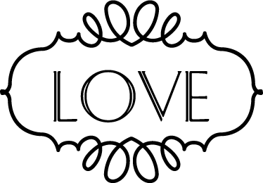 "TenStickers. Love Wall Sticker. A sticker framing the word ""Love"". Shows the importance of this word."
