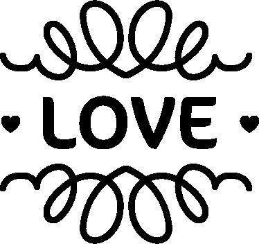TENSTICKERS. ビンテージデザインの壁のステッカーが大好き. お互いに恋をしているカップルにぴったりの、この「ラブ」ウォールステッカーの魅力的なビンテージデザイン!