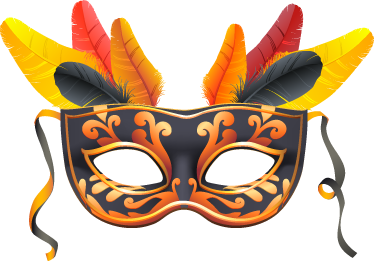 TenStickers. Sticker carnival mask. A beautiful wall sticker illustrating the mask used during carnival or during a costume party!