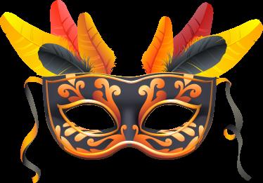 TenVinilo. Adhesivo decorativo máscara carnaval. Atractivo vinilo carnavalesco de inspiración veneciana para la fiesta más loca de todo el año.