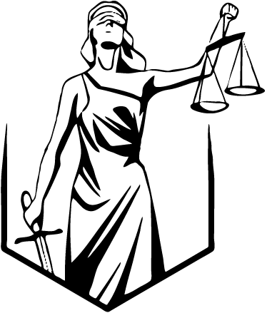 TenStickers. Blind Justice Wall Sticker. Lady Justice wall decal. The decorative wall sticker Illustrates Lady Justice being blind folded while holding both a sword and a scale. Most popularly used as an office wall sticker to remind us of the law and all things legal.