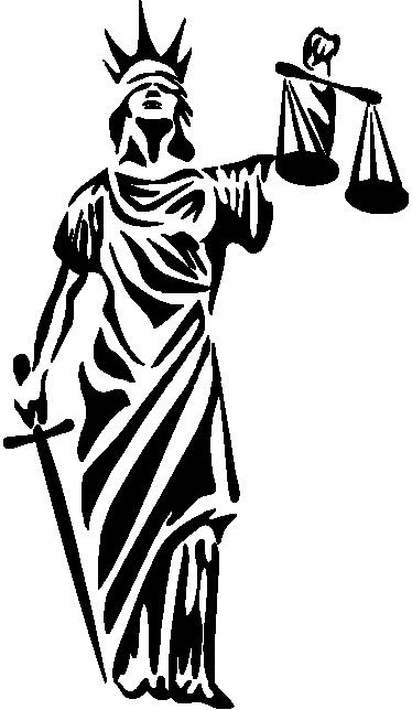 Symbol Of Justice Sticker Tenstickers