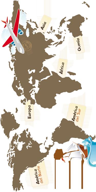 TenVinilo. Vinilo continentes fondo oscuro. Enseña a tu hijo geografía básica con este original adhesivo del mundo. Pensado para aplicar sobre paredes de color.