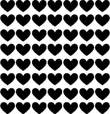 TenStickers. Sticker decorativo infantil corações de amor. Sticker decorativo infantil ilustrando um conjunto de corações, perfeito para decorar o quarto dos seus filhos.