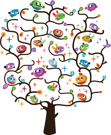 TenStickers. Kids Bird Tree Wall Sticker. Kids Wall Stickers - Original playful and colourful wall art of a tree filled with birds. Ideal for a decorating kids rooms or nurseries.