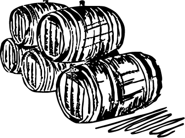 TenStickers. Cellar Barrels Illustration Wall Sticker. Classic wall sticker of a five wine barrels to decorate your wine cellar or bar to create a classic atmosphere for you and your guests. Available in various sizes and 50 colours.