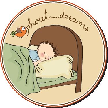 TenStickers. Wandtattoo Kinderzimmer Sweet Dreams. Wandgestaltung Kinderzimmer: Dekorieren Sie Die Wand über dem Kinderbett mit diesem entspannenden Wandtattoo