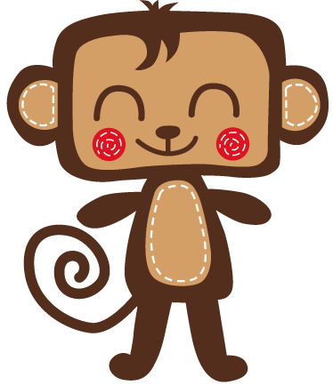 TenStickers. Kids Smiling Monkey Wall Sticker. A cute smiling monkey from our exclusive collection of monkey wall stickers for children. Ideal to decorate the bedroom of the little ones!