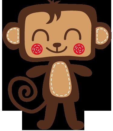 TenStickers. Lächelnder Affe Aufkleber. Wandtattoo für das Kinderzimmer. Dieser kleine fröhliche Affe macht jede Wand zu einem Hingucker und lässt Ihre Kinder schmunzeln.