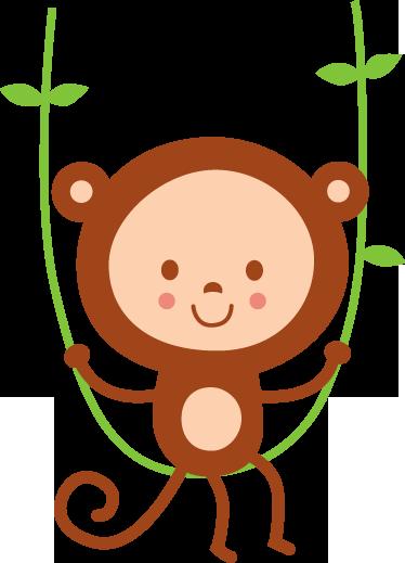 TenStickers. Kinderzimmer Wandtattoo Affe. Gestalten Sie Ihr Zuhause mit diesem schönen Wandtattoo eines kleinen Affen in einer Liane. Damit wird Ihr Kinderzimmer einfach toll.