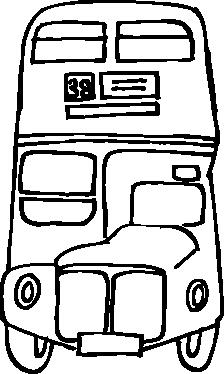 TenVinilo. Vinilo decorativo autobús londres. Vinilo decorativo con imagen frontal de los típicos autobuses de dos pisos de Londres.