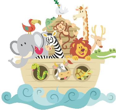 Vinilo decorativo infantil Arca de Noé - TenVinilo